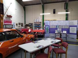 Photograph of exhibition in Dundee Museum of Transport