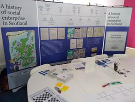 Photograph of of exhibition in Inverness Impact Hub